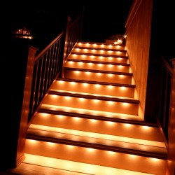 Lighting on outdoor stairs - Photo by Gordon W. Dimmig Photography