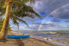 Double Rainbow Sunset | Hopkins, Belize | Belize Landscapes | Image By Indiana Architectural Photographer Jason Humbracht