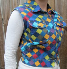 Esprit vest, c. 1980s, likely inspired by an early twentieth-century Amish quilt.
