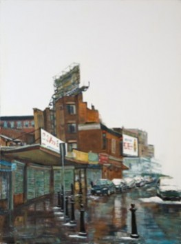The North End boston painting