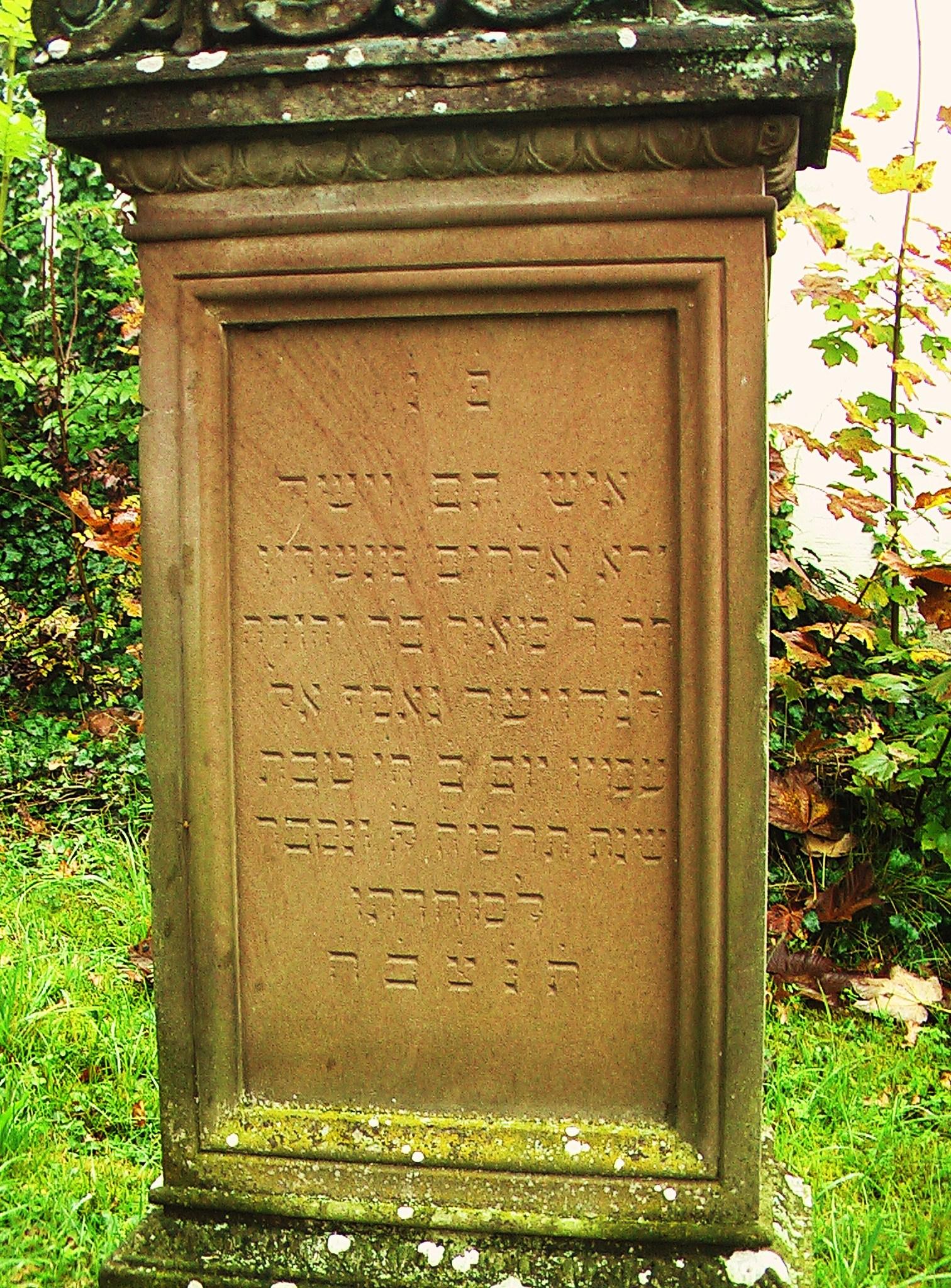 Memorial of Meir bar Jehuda Landauer