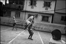 Young boys play soccer in the Rocinha favela, or slum, in Rio de Janeiro, Brazil, in May 2008. Balazs Gardi