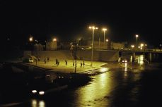 Sanaa, Yemen. Children play soccer in an abandoned city square in Yemen late at night, April 12, 2002. Joachim Ladefoged/VII