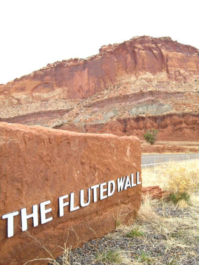 The Fluted Wall in the Capitol Reef National Park