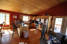 The kitchen was nice, especially for my folks who aren't used to American food. So we bought grocery and cooked at the cabin at the end of the day.