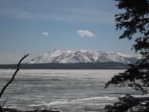 Half of the lake still frozen in May