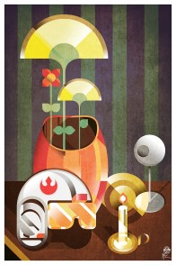 Casque, étoile et fleurs by JB Roux - jibax.fr