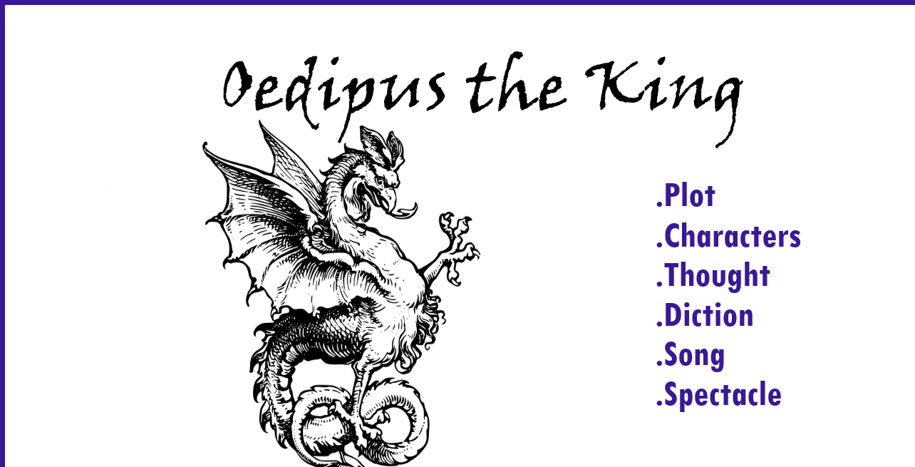 Oedipus characters, Oedipus the King, Plot, Thought, Diction, Spectacle