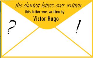 বিশ্বের সবচেয়ে ছোট চিঠি লিখেছিলে ভিকটর হগো