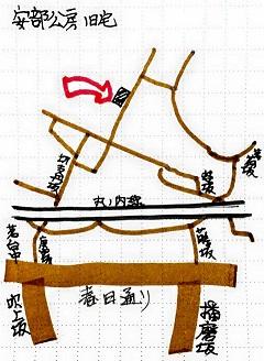 安部公房旧宅地図