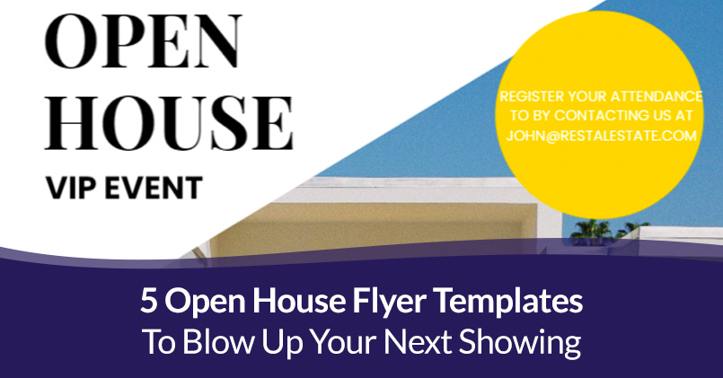 A template is something that establishes or serves as a pattern for reference. 5 Open House Flyer Templates To Blow Up Your Next Showing