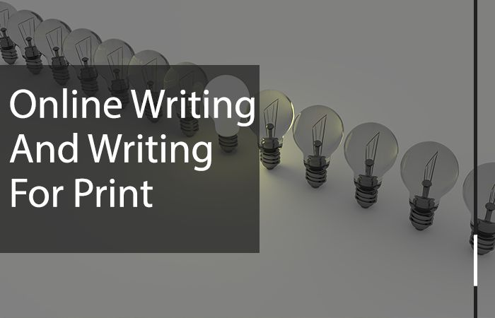 writing for the web and print writing a difference