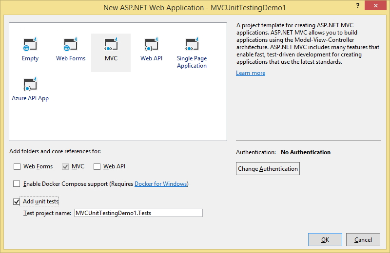 Create ASP.NET MVC Project
