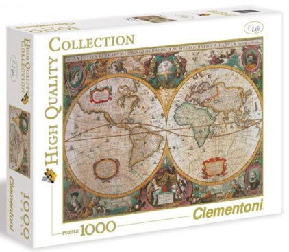 clementoni map 1000