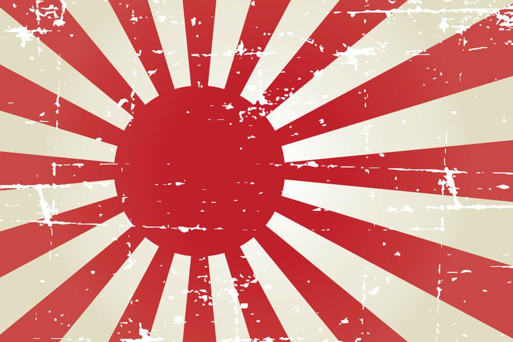 Japán haditengerészet császári zászló Chujiro Hayashi