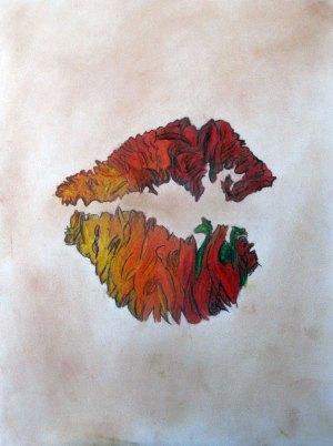 Lips demon flames