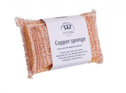 Redecker Copper sponge, Non- durable scrubber cleans stainless steel