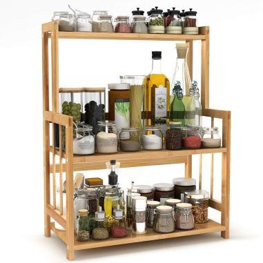 3 tier standing  kitchen bathroom counter tops storage organizer