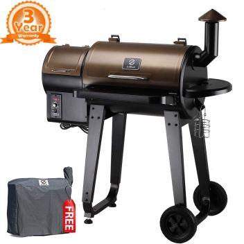 Z grills and smoker barbecue storage box with auto temperature control