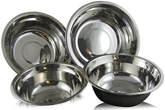 checkered chef stainless steel mixing bowls set