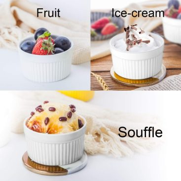 various ways to use the Accguan porcelain ramekins like for fruit