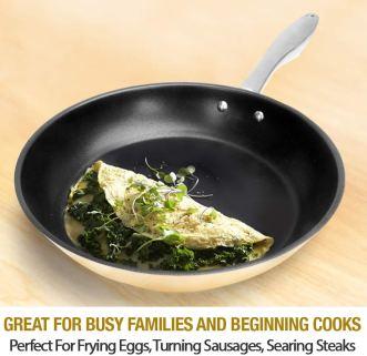 Nickel free stainless steel omelet pan