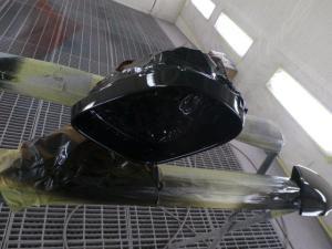 ジャガーXF ミラー修理塗装
