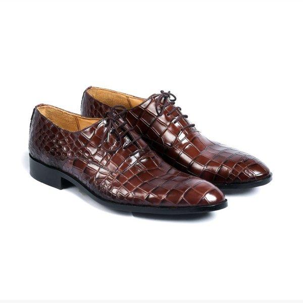 Valencia-Brown--Mens-Handmade-Croco-Oxford-Leather-Dress-Shoes-Pakistan-UK