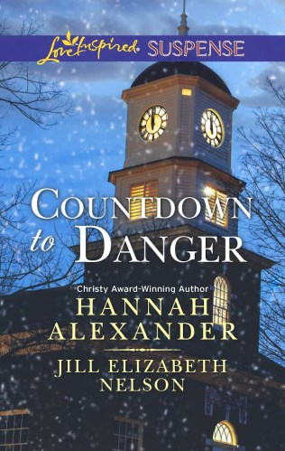 Cover for Jill Elizabeth Nelson's novella New Year's Target, A Love Inspired Suspense Mystery, Published in the 2 novella collection, Countdown to Danger