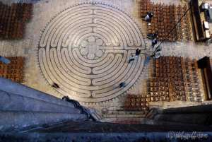 The Chartres Cathedral labyrinth © by photographer Jill K H Geoffrion