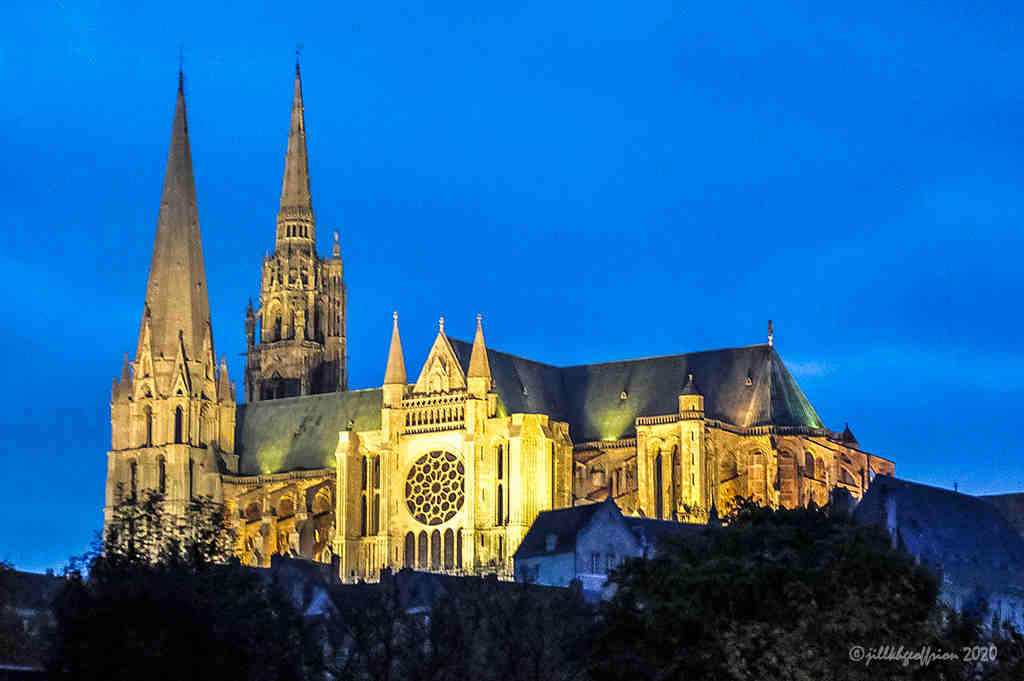 Chartres Cathedral by photographer Jill K H Geoffrion