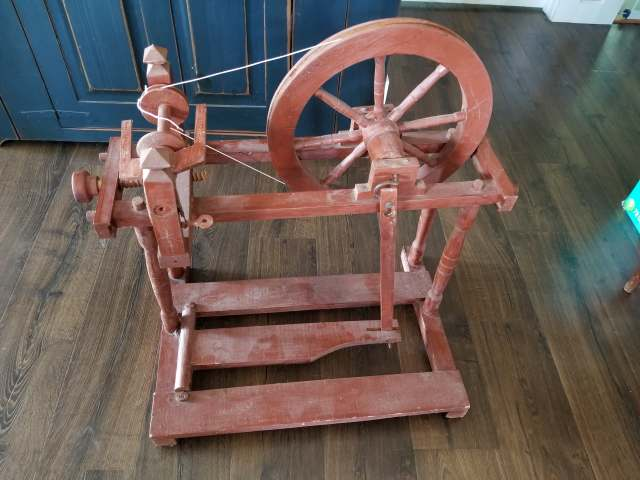 A picture of my spinning wheel shaped object. The tells are the lack of an orifice and tension system.