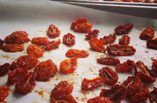 Oven dried Sun Dried Tomatoes
