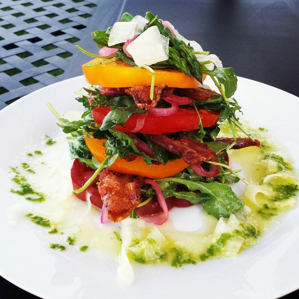 BLT Salad with lemon herb vinaigrette