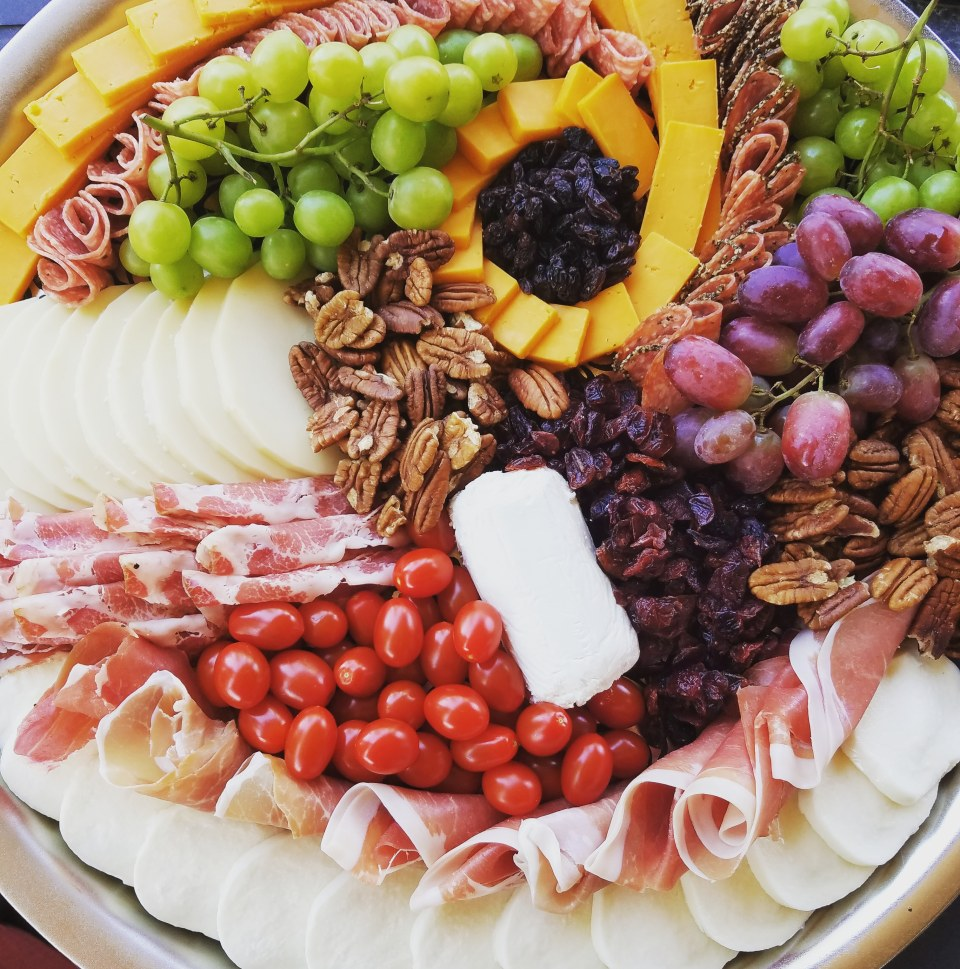 Large Cheese Board with Charcuterie