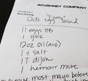 Fluffy Egg Salad Recipe Draft Note
