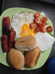 Kesong puti, pandesal from Cavite, longganisa, organic eggs & cherry tomatoes