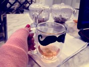 Nothing better than warm tea & a cozy sweater