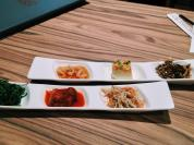 Appetisers at a forgattable Korean restaurant in Shang