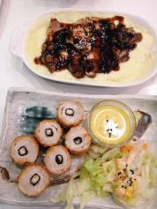 Cheese on rice (!) for Chicken Teriyaki Doria & Chicken Tori Fry from Tokyo Bubble Tea