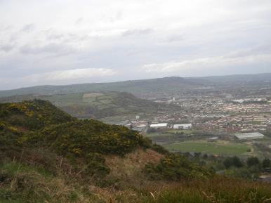 View from the top of Cave Hill in Belfast.