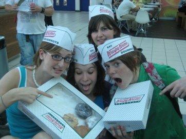 We found Krispy Kremes at the London airport!