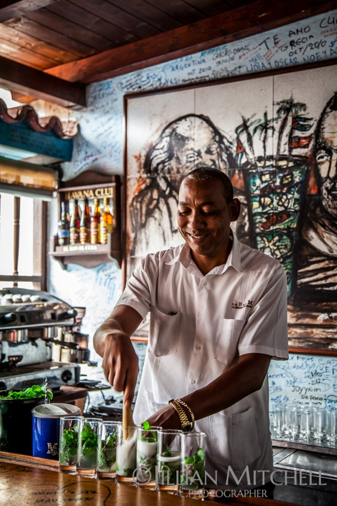One of the world's most famous bars - La Bodeguita del Medio, apparently once Hemingway's favourite bar in Old Havana and considered the birthplace of the Mojito.