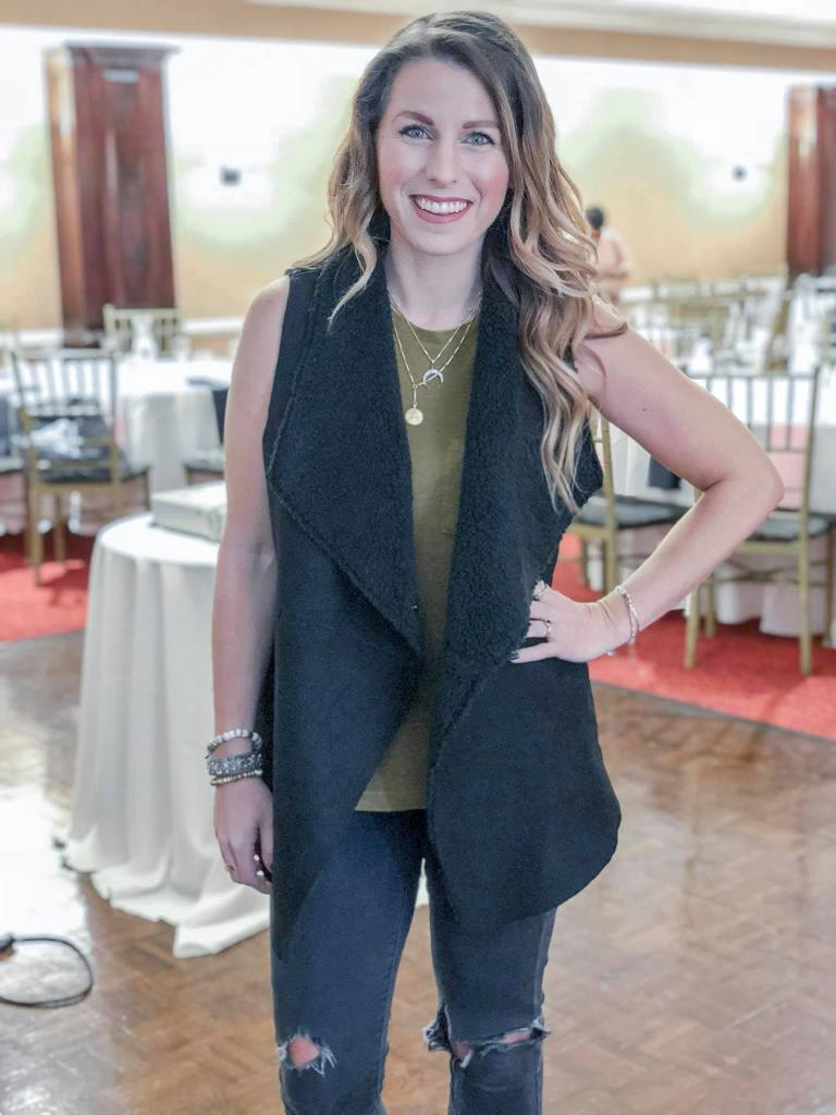 Most Liked Post on Instagram Jillian Rosado Stella & Dot Sherpa Vest