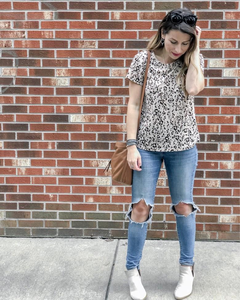 H&M Leopard Tee Jillian Rosado Instagram