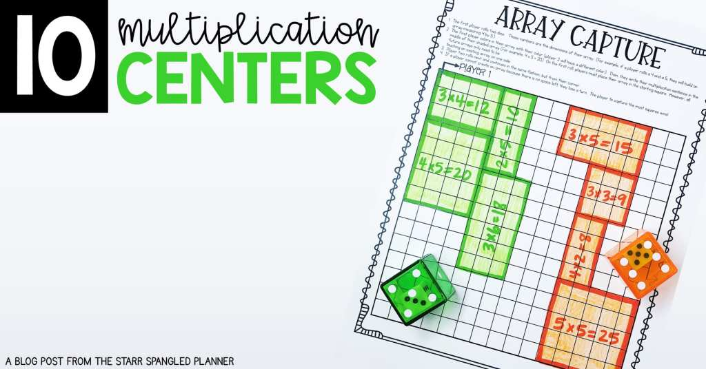 Teaching Multiplication! Multiplication Centers for guided math rotations. Games, activities and independent practice to help students build fact fluency and master their multiplication facts.