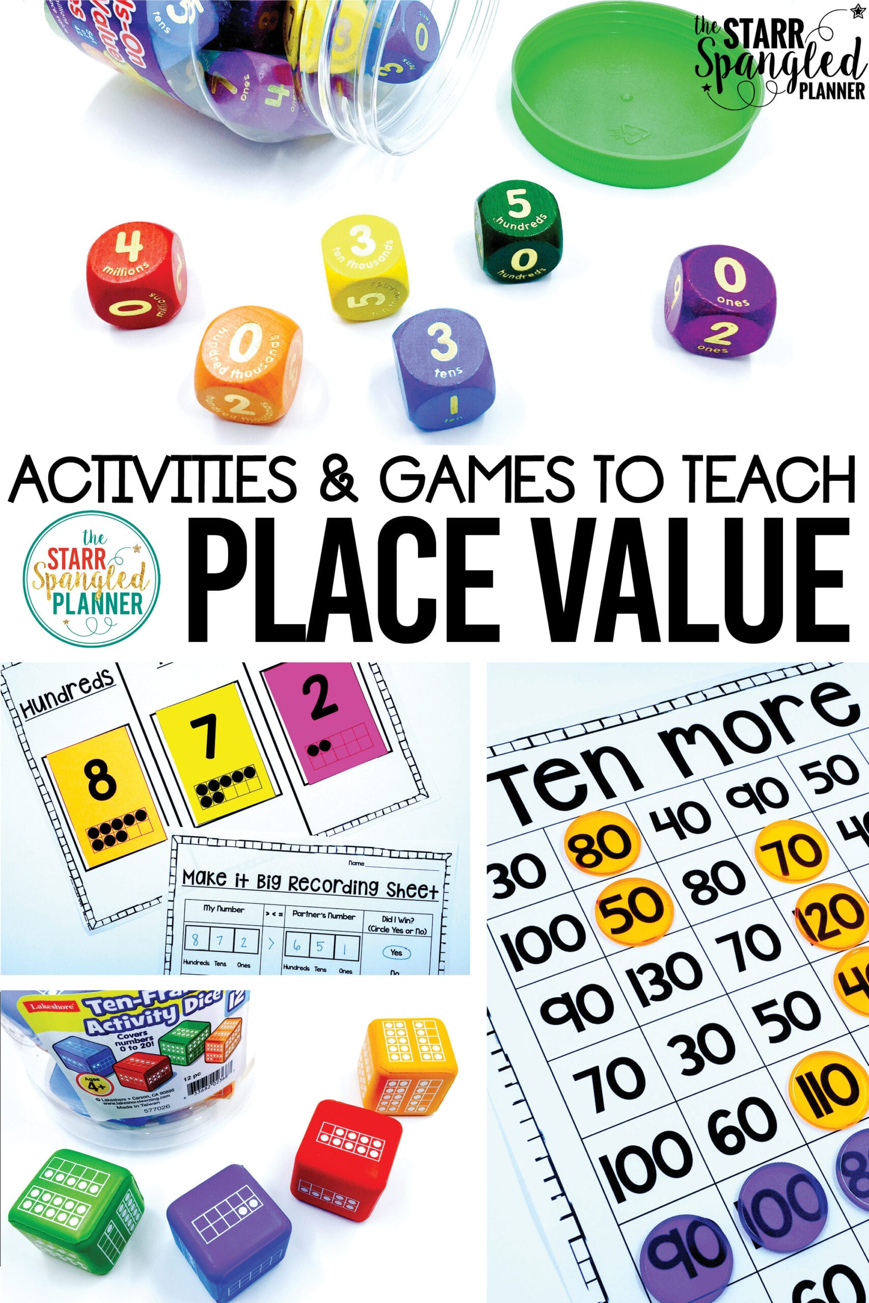 graphic relating to Place Value Games Printable named Training Point Significance - Education with Jillian Starr