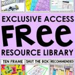 Free Elementary Teaching Resources! That's right, they're all 100% Free! From math games to reference posters to community builders, this free resource library is full of amazing downloadable printables for you FOR FREE! Tap to get your exclusive access today!