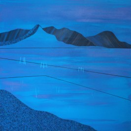 St Mary's Loch in blue. Acrylic on board, 60cm x 60cm