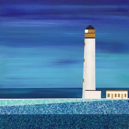 Study for Barns Ness Lighthouse - sold